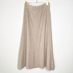 Zara Knit Beige Cozy Maxi Skirt Size Medium